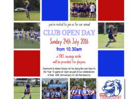 INAUGURAL CLUB OPEN DAY – 24TH JULY 2016